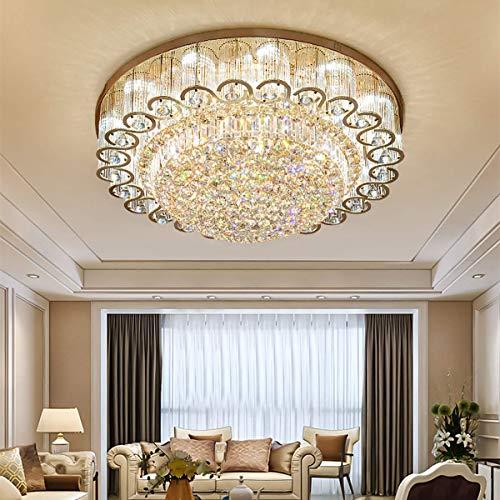 KALRI Luxury Crystal Chandelier LED Ceiling Lamp Flush Mount Modern...