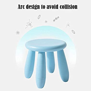 Children's Stool Plastic Round Stool,Kindergarten Learning Stool Thicken Plastic Game Seat Removable, Load 100kg, for Kid
