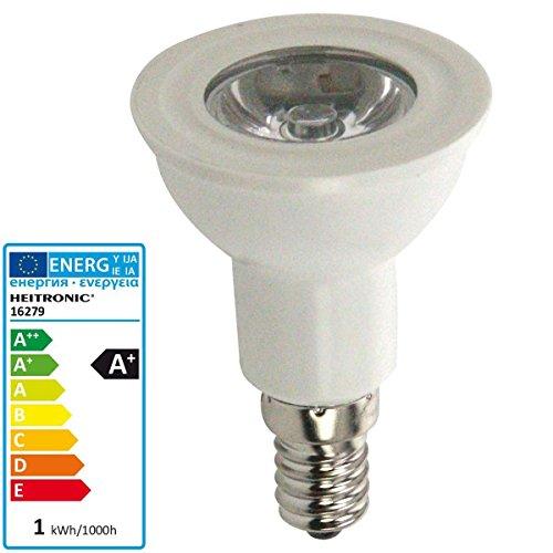 HEITRONIC LED Leuchtmittel 1W E14 4000 Kelvin kaltweiß reflektorform