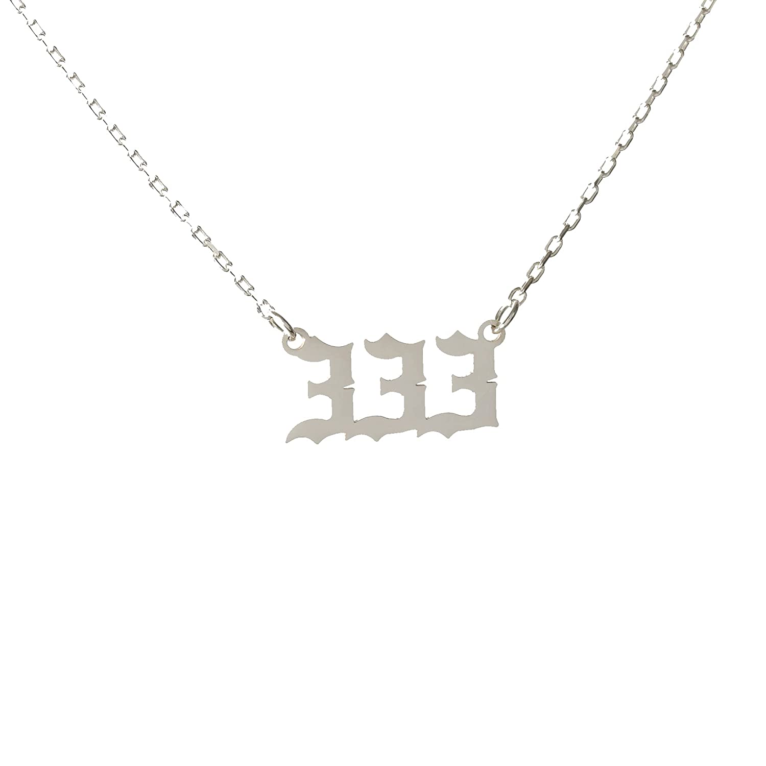 333 Silver Angel Number Necklace 925 Quantity limited gold Brand Cheap Sale Venue with sterling silver