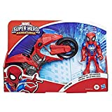 Marvel Spider-Man Playskool Super Hero Adventures – Arachno-moto de Spider-Man et figurine 12,5 cm