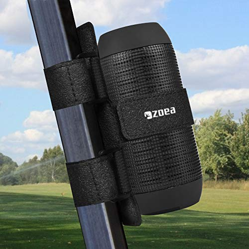 ZOEA Portable Bluetooth Speaker Mount for Golf Cart Accessory, Adjustable Strap Fits Most Wireless Bluetooth Speakers Attachment Holder Bar Rail, Gift for Golfers