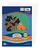 Sunworks Construction Paper, White, 9' x 12', 50 Sheets (9203)