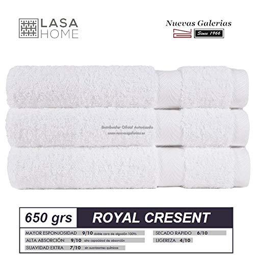 Lasa Royal Cresent 650 Gramos - Juego 3 Toallas tocador