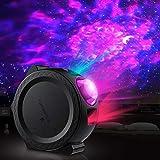 Luces de Discoteca para Fiestas, Homealexa Proyección LED Estrellas con proyector de carga USB Lámpara de luz de onda de agua Control de sonido nocturno Luz de LED activada para niños, decoración