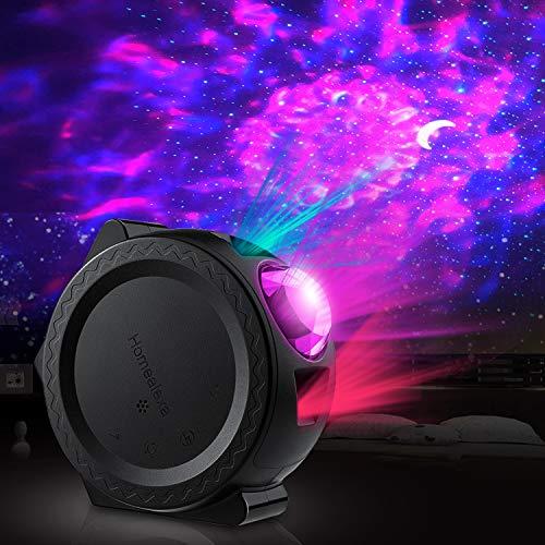 Homealexa LED Projektionslampe Sternenhimmel Projektor Romantische Nachtlicht Projektion, Wasserwelle Lichteffekte mit Farbwechsel Stimmungsbeleuchtung für Party Halloween Karneval Weihnachten