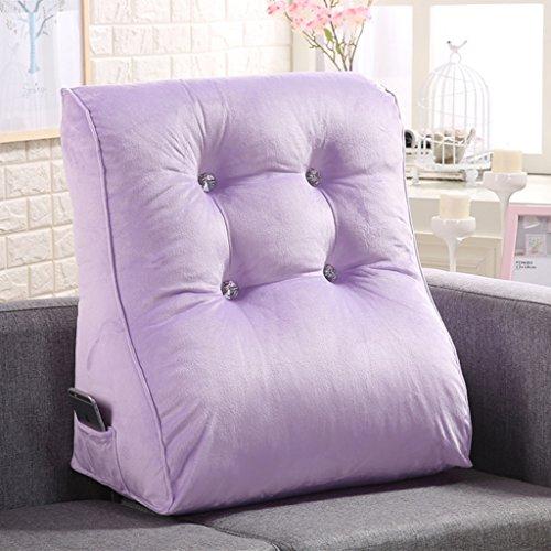 Coussins de couleur unie peut soutenir la taille et le cou adapté pour les chaises de bureau canapés fauteuils tables de nuit sièges d'auto et fauteuils roulants. (Color : Purple)