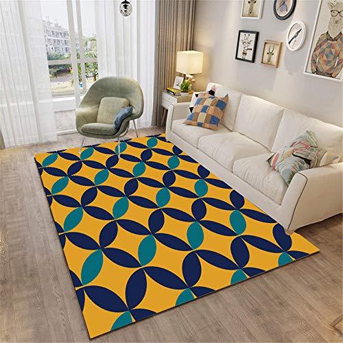 RUGMRZ Alfombras Online Baratas Geométrico Simple Soft, Hermoso, Limpio, Salón, Alfombra de...