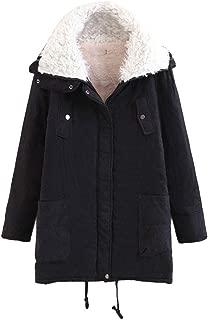 Hoodie Coat for Womens Plus Size Winter Warm Long Sleeve Pocket Oversize Parka Jacket LONGDAY Sweater Cover Up