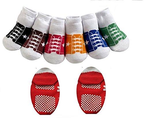 SET MIGNON DE 6 bambin FORMATION BASEBALL BÉBÉ anti- dérapant chaussettes 12-24 MOIS