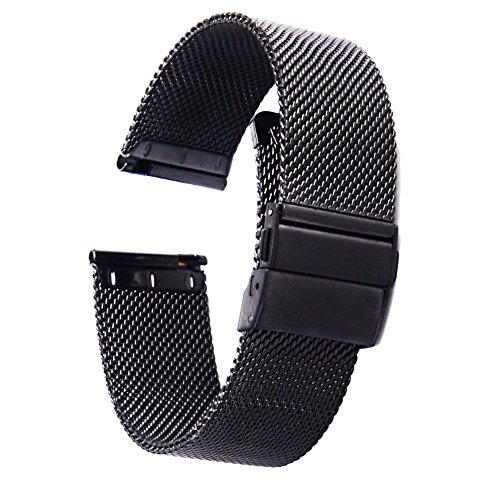 [ZHUGE] Correas de relojes - Nuevo estilo de doble-presión Hebilla de cierre Milanese Mesh Correa de reloj de 18 mm 20 mm 22 mm