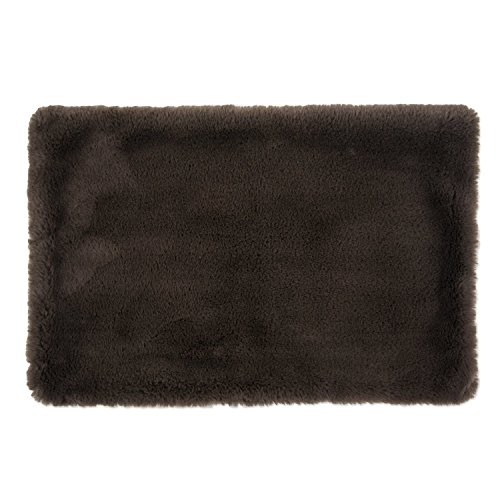 Bone Dry Faux Fur Pet Cage Liner, Small - 13 x 20', Brown