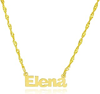 10k Yellow Gold Personalized Name Necklace - Style 7 - Custom Made Any Name