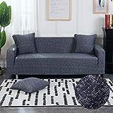 WXQY Funda de sofá elástica Cubierta de sofá Antideslizante firmemente Envuelta protección combinada para Mascotas Funda de sofá de Esquina en Forma de L A10 4 plazas