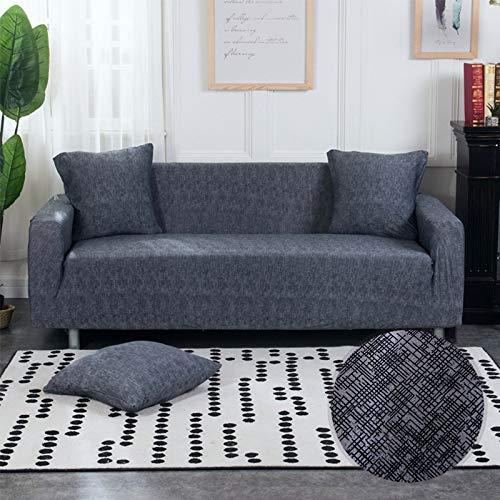 ASCV Fundas de sofá Strech Fundas de sofá elásticas para Sala de Estar Funda de sofá Antideslizante con Todo Incluido Esquina en Forma de L A9 3 plazas