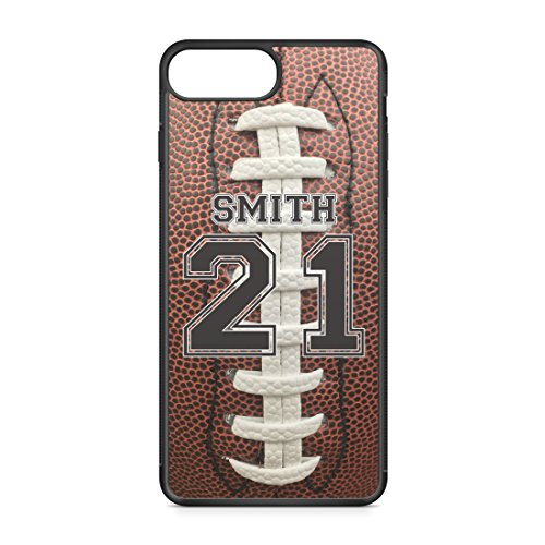 CodeiCases Compatible Case Cover with Football Design and Custom Name and Number for iPhone 8 Plus