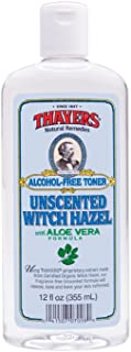 Thayers Alcohol-Free Witch Hazel Toner with Aloe Vera Formula, Unscented, 12 Fluid Ounce