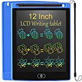 LCD Writing Tablet 12 Inch Colorful Drawing Tablet for Kids, Electronic Writing Drawing Pads Portable Doodle Board Gifts for Kids Office Memo Home Whiteboard (Deep Blue)