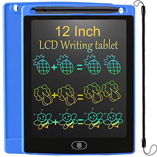 JOEAIS Tavoletta Grafica LCD Scrittura Bambini 12 Pollici, Colorato Anti-Caduta Elettronica Tavoletta Grafica Lavagna Portatile da Disegno, Regalo per Bambini, Progettista, Studenti