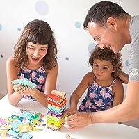 Nene Toys - Torre Magica Colorata in Legno con Animali – Gioco Educativo da Tavolo per Bambini - Gioco Didattico 4 in 1 per Bambini da 3 a 9 anni – Giocattolo Ideale come Regalo per Genitori e Figli #6