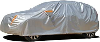 Kayme 6 Layers Car Cover Waterproof All Weather for Automobiles, Outdoor Full Cover Rain Sun UV Protection with Zipper Cotton, Universal Fit for Hatchback (Up to 177