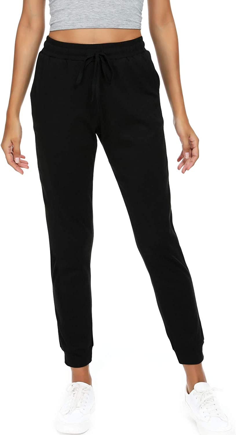 HAOMEILI Women's Joggers Pants Fresno Mall Sweatpants Active Limited time cheap sale Cotton Tapered