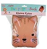 Mein Handpuppen-Buch. Kleine Katze: Zum Vorlesen, Knuddeln und Spielen. Stoffbilderbuch mit 2 großen Außentaschen für die Hände und seitlich angenähten Ohren