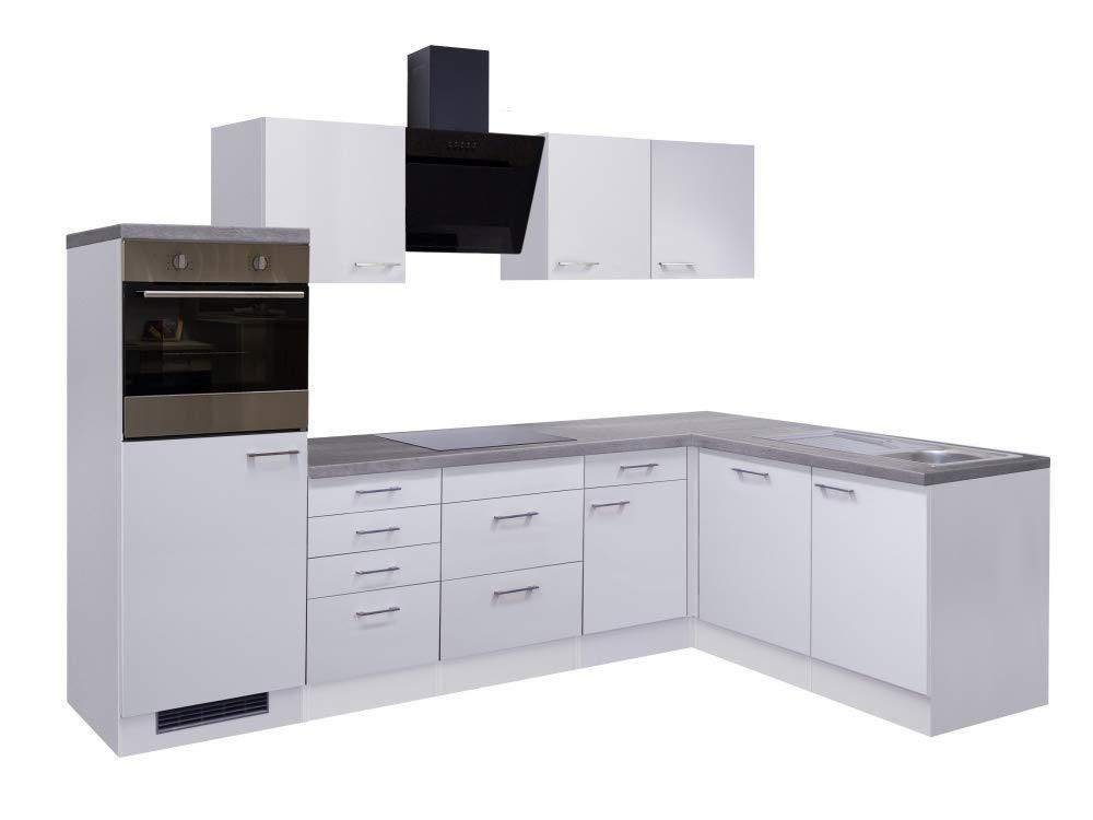 Smart Möbel - Bloque de Cocina en ángulo (280 x 170 cm, con lavavajillas, Campana extractora, frigorífico y Fregadero), Color Blanco: Amazon.es: Juguetes y juegos