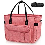 DYD Insulated Lunch Bags for Women, Large Tote Lunch Box Snacks Organizer for Women with Shoulder Strap, Side Pockets and Water Bottle Holder for Office School Picnic Beach Fishing