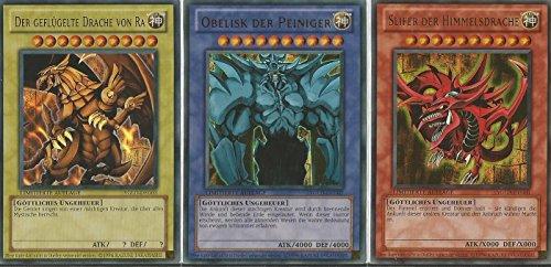 Yu-Gi-Oh! Ägyptische Götterkarten Komplett Set - Ultra Rare - Limitierte Auflage - Deutsche Version
