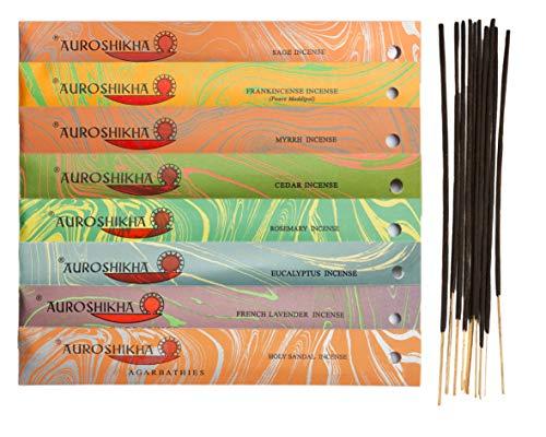 Auroshikha Agarbathies ~ Cleansing and Purification ~ Sage, Frankincense, Myrrh, Cedar, Rosemary, Eucalyptus, Lavender, Holy Sandal