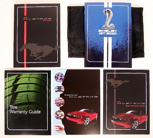 2012 Ford Mustang Shelby GT500 Owners Manual Guide Book