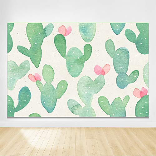 Felizotos Watercolor Cactus Backdrop Floral Cactus Background Baby Shower Backdrop Birthday Party Photo Studio Photography Props 6x4ft