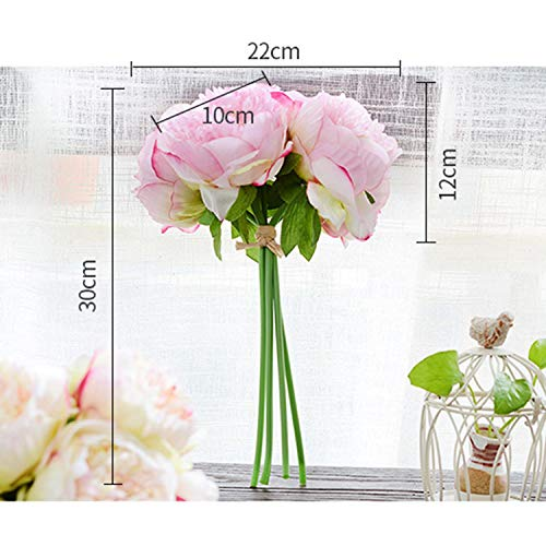 LoveSmartWork Or Peony - Flowers Artificial Dried Artificial Dried Flowers Silk Gerbera Flower Mint Calla Lily Wh - Simulation Flower Hand Tie Five Peony Home Oration Fake Wedding Ornaments Pink