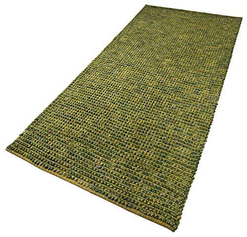 Juteteppich 'Pebbles' grün, Größe:70 cm x 140 cm, in weiteren Farben und Größen erhältlich