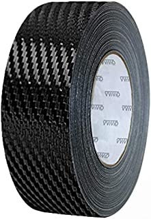 VViViD Dry Carbon Fibre Detailing Vinyl Wrap Tape 2 Inch x 20ft Roll DIY (Black)