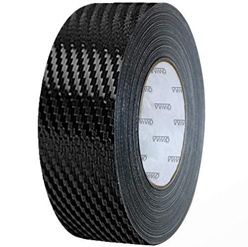VViViD Black Carbon Fiber Air-Release Adhesive Vinyl Tape Roll (3 Inch x 20ft)