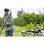 """Pelican Sit-on-Top Kayak - Sentinel 100X - 9.5 Feet - Lightweight one Person Kayak 9 A multi chine flat bottom hull ensures the stability needed when casting lines and reeling in fish. Measuring 9'6"""""""" and weighing only 44 lb, the SENTINEL 100X ANGLER is incredibly easy to transport and store Made using our patented Ram-X materials, the SENTINEL 100X ANGLER will be around for years of exciting experiences."""
