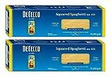 De Cecco Pasta de sémola, espaguetis cuadrados #413, 1 libra (2 unidades)