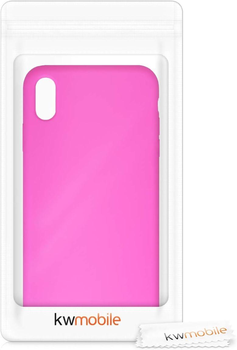 Carcasa de TPU para m/óvil kwmobile Funda Compatible con Apple iPhone XS MAX Cover Trasero en Malva