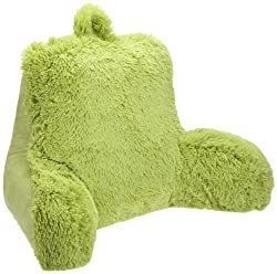 Brentwood Originals Shagalicious Bedrest reading pillow review  lime or neon green