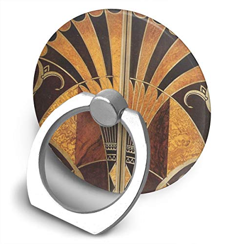 Art Nouveau - Soporte para teléfono celular, diseño vintage elegante y vintage, color dorado y negro, bronce plateado, beige, soporte de anillo para teléfono celular, soporte giratorio de 360 grados, soporte de metal para serie de teléfonos