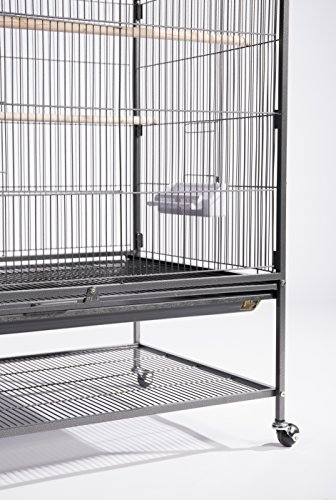 Product Image 3: Prevue Hendryx F050 Pet Products Wrought Iron Flight Cage, X-Large, Hammertone Black