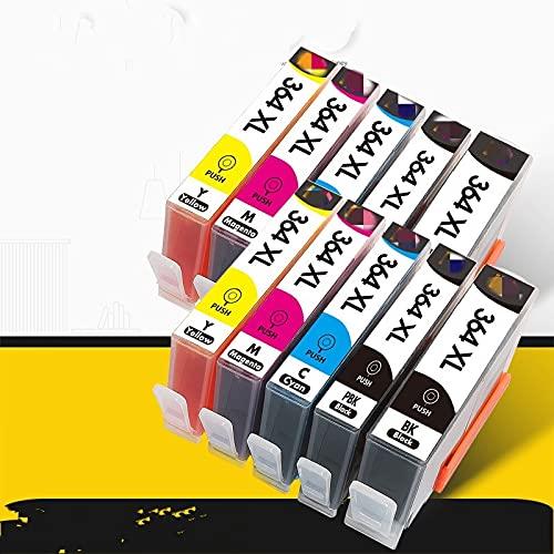 ESORST 4 Cartucho de Tinta de Impresora Negra para HP364XL HP 364 XL por HP Photosmart 5510 5515 6510 B010A B109A B209A Deskjet 307 0A HP 364 (Color : 10pcs (with pbk))