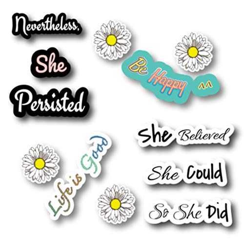 Empt Idio -Inspiring in Life Removable Vinyl Stickers Skin for Laptop, Mirror, Door, Guitar, Luggage, Helmet, Mobile Phone; Nevertheless She Persisted,She Believed She Could So She Did Quotes(Empt01)