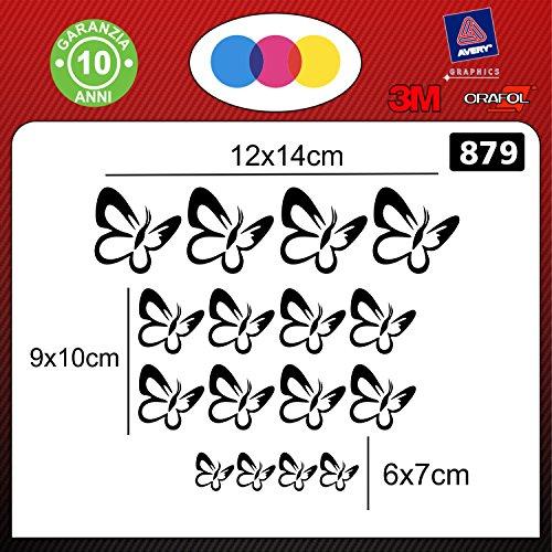 16 mariposa stickers-Pegatina para coche, auto accesorios stickers decal modelo 879 ()...