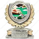 Trofeo Poker H 12cm la placa personalizada ist compresa en el precio