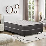 Continental Sleep 10-Inch Medium Firm Foam Encased Pillowtop Pocketed Coil Innerspring Mattress And 4' Split Low Profile Wood Fully Assembled Box Spring/Foundation Set, Queen Size