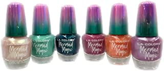 LA COLORS Brand New Nail Polish Mermaid Magic Set of 6