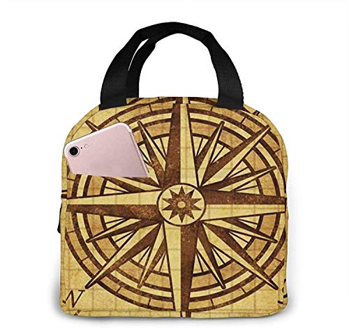 Bolsa de almuerzo con aislamiento Bolsa fresca para loncheras Tela impermeable Bolso de picnic plegable para mujeres Adultos Hombres Niños Bíblica Elegante Swashes 9-20